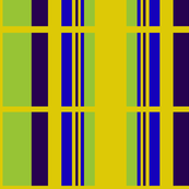 Block grid in Green, Mustard, purple and blue
