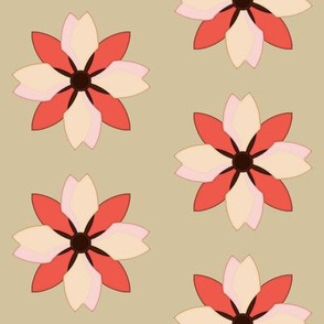 Flower on Taupe