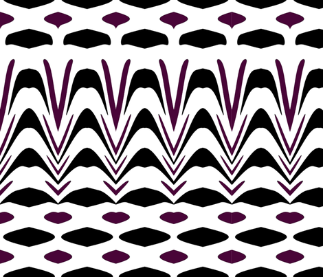 Black and Purple Ethnic Print fabric by sew_delightful on Spoonflower - custom fabric