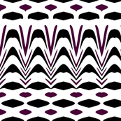 Black and Purple Ethnic Print