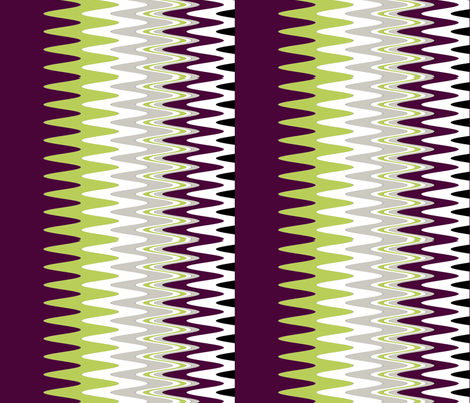 ZigZag Print in purple, grey, green fabric by sew_delightful on Spoonflower - custom fabric