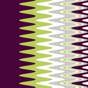 ZigZag Print in purple, grey, green