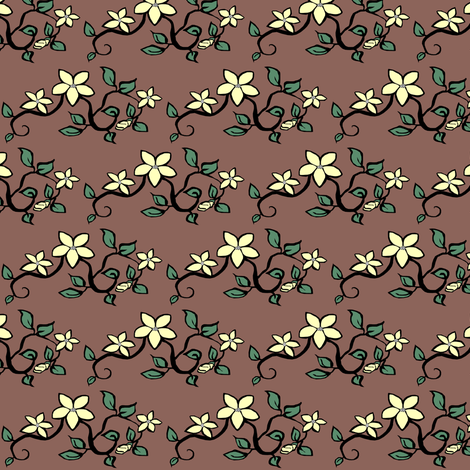 Delicate Floral II. fabric by pond_ripple on Spoonflower - custom fabric