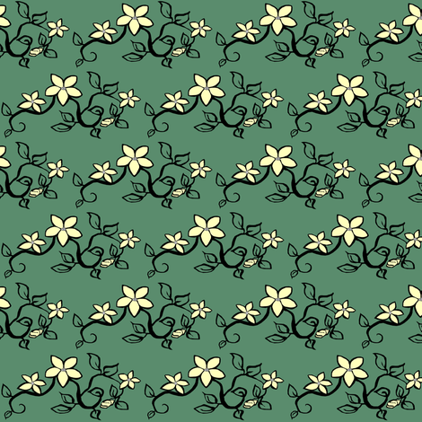 Delicate Floral fabric by pond_ripple on Spoonflower - custom fabric