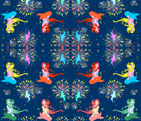 Fish of July WaterWorks! fabric by beesocks on Spoonflower - custom fabric
