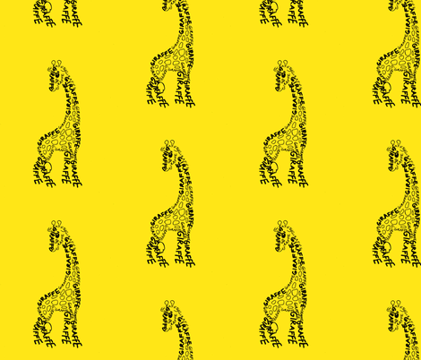 Giraffe fabric by blue_jacaranda on Spoonflower - custom fabric