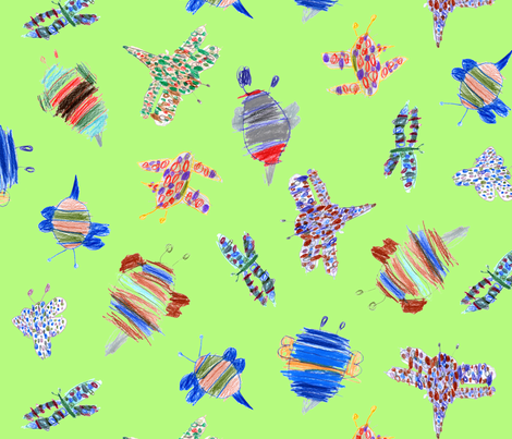 bubbie-bugs fabric by bubbie on Spoonflower - custom fabric