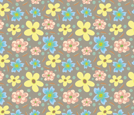 Power Flowers fabric by can-do-girl-fabric on Spoonflower - custom fabric