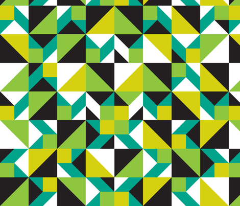 Tangram Pop fabric by modgeek on Spoonflower - custom fabric