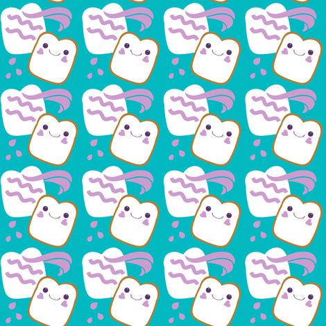 Kawaii PB & Jammies fabric by eppiepeppercorn on Spoonflower - custom fabric