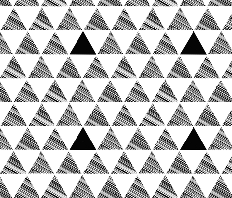 triangle stripe fabric by cristinapires on Spoonflower - custom fabric
