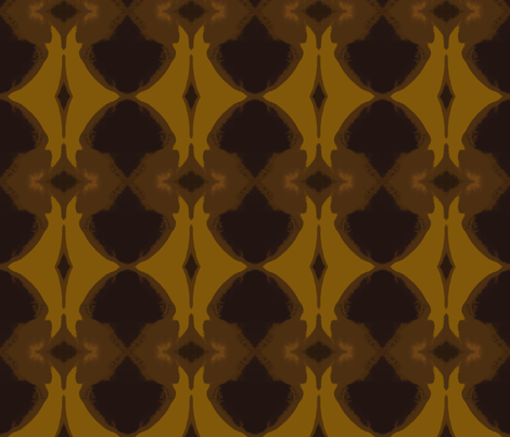 Pleasures of Dark Chocolate & Caramel fabric by susaninparis on Spoonflower - custom fabric