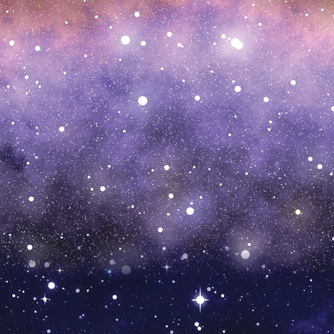 Milky Way Border fabric by animotaxis on Spoonflower - custom fabric