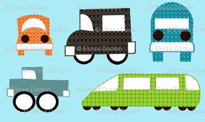 Trucks, Cars and Trains
