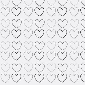 pastel hearts grey