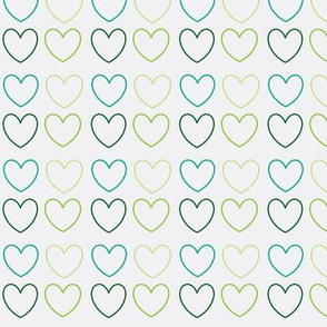 pastel hearts green