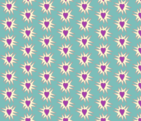 Love_Explosion_med-BLUEGREEN-175 fabric by mina on Spoonflower - custom fabric
