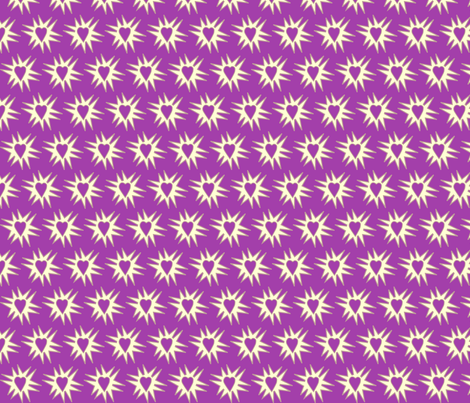 Love_Explosion_PURPLE fabric by mina on Spoonflower - custom fabric