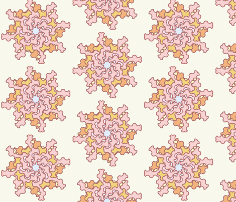 Pastel Bloom fabric by david_kent_collections on Spoonflower - custom fabric
