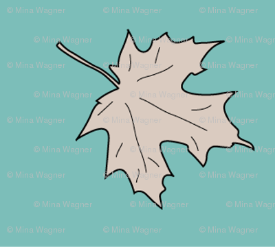 Maple_leaf-1inch-tan-med-BLUEGREEN-175