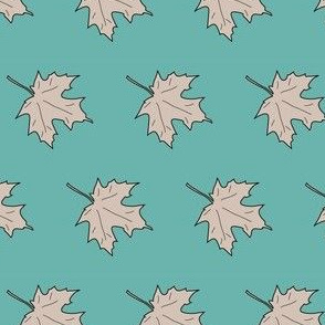 Maple_leaf-1inch-tan-med-BLUEGREEN-175