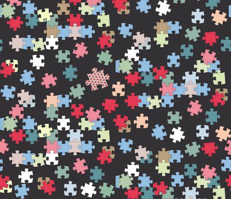 odd one out fabric by scrummy on Spoonflower - custom fabric