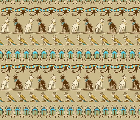 Egyptian odd one out fabric by cjldesigns on Spoonflower - custom fabric