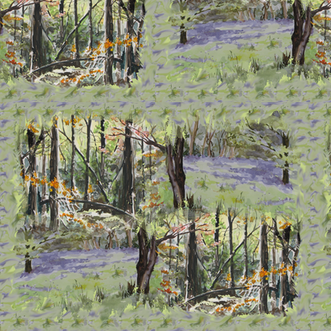 watercolor_spring_autumn_sprig_3551 fabric by eclectic_house on Spoonflower - custom fabric