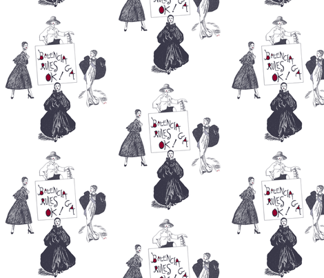 Balenciaga Rules OK! medium fabric by su_g on Spoonflower - custom fabric