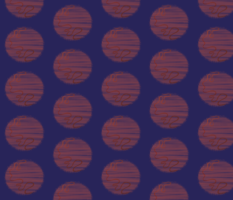 An old river on a brown moon fabric by su_g on Spoonflower - custom fabric