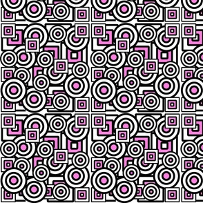 Dizzy Circles and Quirky Squares with hot pink