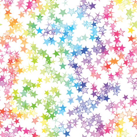 Rainbow Stars fabric by animotaxis on Spoonflower - custom fabric