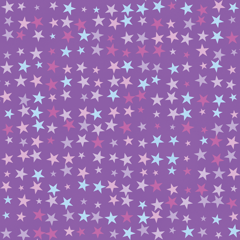 Stars On Purple fabric by animotaxis on Spoonflower - custom fabric