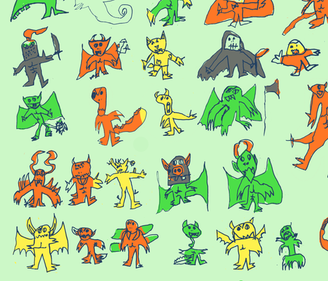 Monsters by Rhys Howard fabric by carrie-anne's_designs on Spoonflower - custom fabric