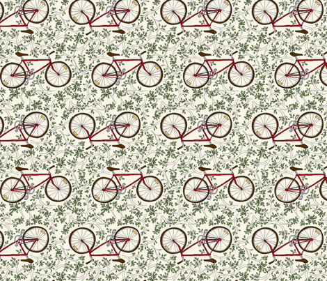 Go West Bike fabric by sarahgager on Spoonflower - custom fabric