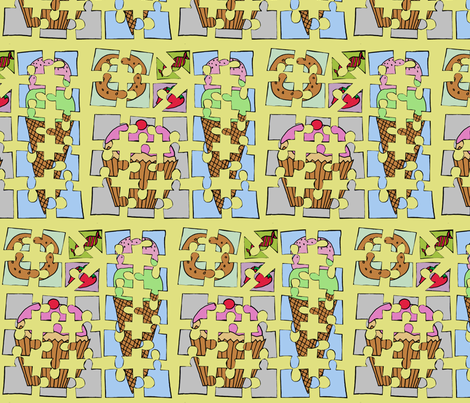 SweetPuzzle fabric by celebrindal on Spoonflower - custom fabric