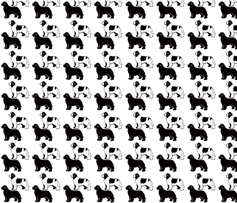 Repeating Pattern Newfoundland Dogs fabric by dogdaze_ on Spoonflower - custom fabric