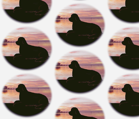 newfoundland__sunset fabric by dogdaze_ on Spoonflower - custom fabric