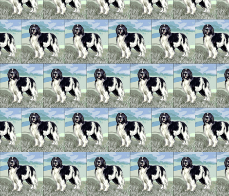 Landseer Newfoundland Dog Standing fabric by dogdaze_ on Spoonflower - custom fabric