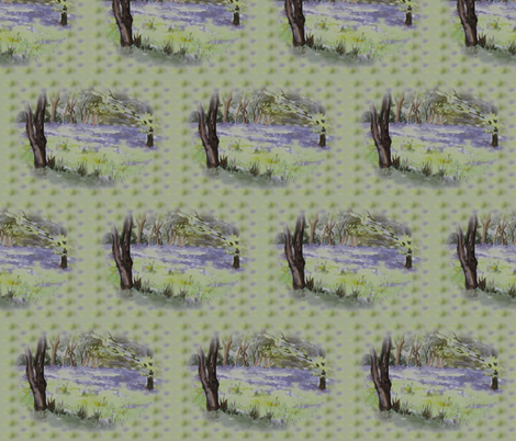 Lavender and green Spring Bluebells fabric by eclectic_house on Spoonflower - custom fabric