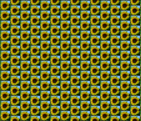 Retro Sunflower fabric by topfrog56 on Spoonflower - custom fabric