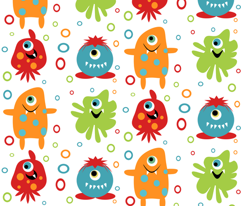 Monster fabric fabric by tracydw70 on Spoonflower - custom fabric