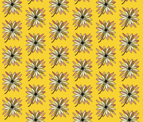 Floral Sunburst fabric by david_kent_collections on Spoonflower - custom fabric