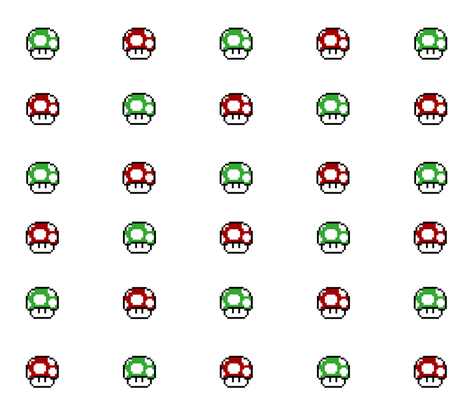 Mario Game Mushrooms fabric by forgotten_fortune on Spoonflower - custom fabric