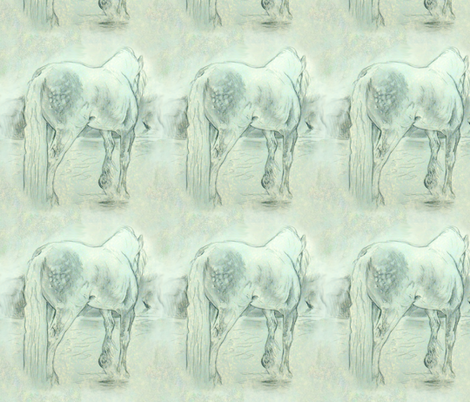 Gypsy horse fabric by eclectic_house on Spoonflower - custom fabric