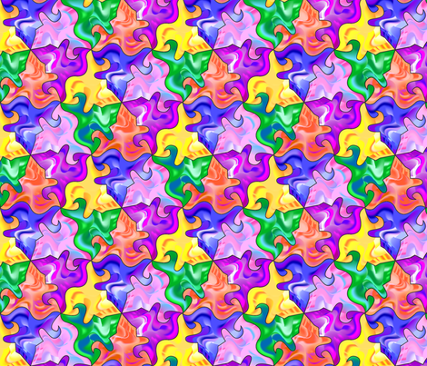 Tessellation Puzzle fabric by creative8888 on Spoonflower - custom fabric