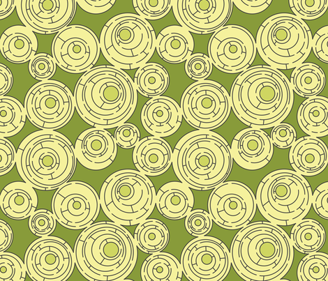 Maze in Greens, alternate fabric by meduzy on Spoonflower - custom fabric