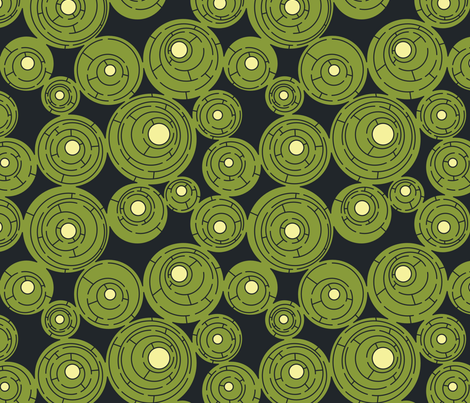 Maze in Navy and Olive fabric by meduzy on Spoonflower - custom fabric