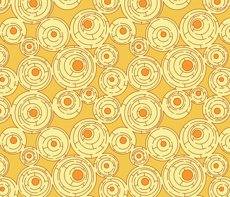 Maze (Sunshine) fabric by meduzy on Spoonflower - custom fabric