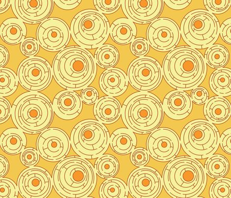 Maze (Sunshine) fabric by meduzy on Spoonflower - custom fabric